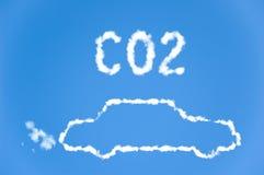 汽车二氧化碳排放 免版税库存图片