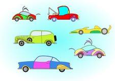 汽车五颜六色的集 免版税库存照片