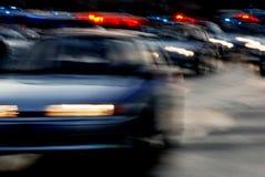 汽车交通在夜路的 库存照片