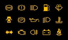 汽车仪表板标志显示系统标志 皇族释放例证