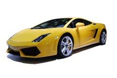 汽车体育运动黄色 免版税图库摄影