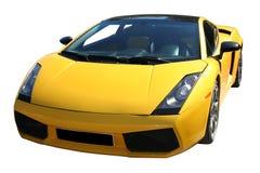 汽车体育运动黄色 免版税库存图片