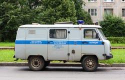 汽车俄国人警察 免版税库存照片