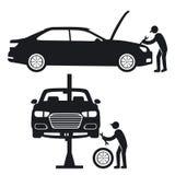 汽车修理例证 免版税库存照片