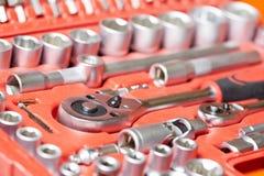 汽车修理工维修服务集合工具板钳 库存图片