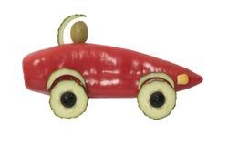 汽车做用红辣椒、黄瓜和橄榄 图库摄影