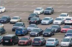 汽车停车 荷兰男人飞行堡垒保罗・彼得・彼得斯堡餐馆俄国圣徒 2017年8月10日 库存图片