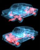 汽车光芒x 向量例证