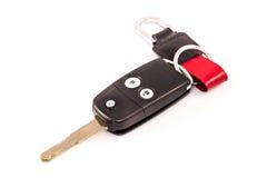 汽车关键遥控隔绝有白色背景 库存图片