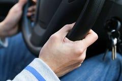 汽车内部指点运输轮子 免版税图库摄影