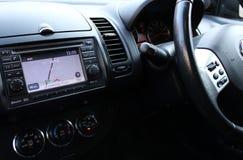 汽车内部现代 免版税库存图片