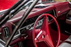 汽车内部红色 图库摄影