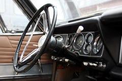 汽车内部老 免版税库存图片