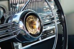 汽车内部经典美国 免版税库存照片