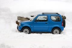 汽车冬天 图库摄影