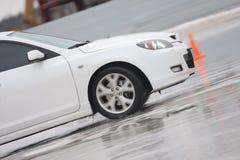 汽车冰白色 免版税库存照片