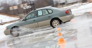 汽车冰移动 库存照片