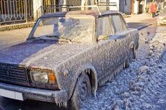 汽车冰 库存照片