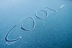 汽车冷静冬天 库存图片