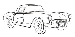 汽车减速火箭的草图 库存图片