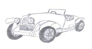 汽车减速火箭的草图 图库摄影