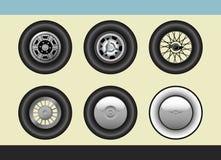 汽车减速火箭的轮子 免版税图库摄影