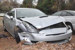 汽车击毁了 库存图片