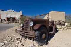 汽车击毁在Terlingua得克萨斯美国 库存照片