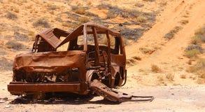 汽车击毁 库存图片