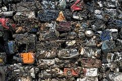 汽车击碎了堆积 免版税库存图片