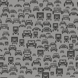 汽车剪影无缝的样式 向量例证