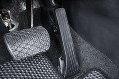 汽车加速器和刹车踏板 免版税库存图片