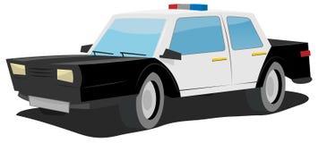汽车动画片警察 库存图片