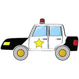 汽车动画片警察 库存照片