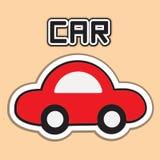 汽车动画片查出的红色白色 库存照片