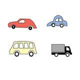 汽车动画片模式无缝的向量 库存图片