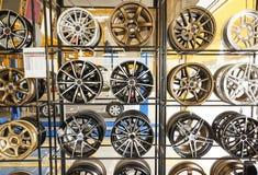 汽车合金轮子 库存照片
