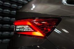 汽车后方LED中止光  免版税库存照片