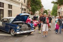 汽车和卡车展示 免版税图库摄影