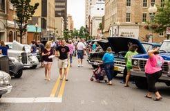 汽车和卡车展示 免版税库存照片