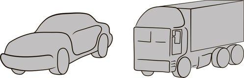 汽车和卡车 免版税库存图片