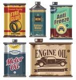 汽车和运输相关产品的葡萄酒汇集 免版税库存照片