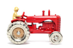 汽车哈里斯massey老玩具拖拉机 免版税库存图片