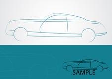 汽车商标设计 免版税图库摄影