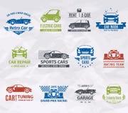 汽车商标邮票 库存图片
