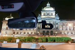 汽车国家博物馆的照相机视图,布拉格,捷克 免版税图库摄影