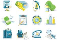 汽车图标服务集合向量洗涤 免版税库存图片
