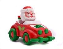 汽车圣诞老人 库存照片