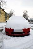 汽车在冬天 免版税库存照片
