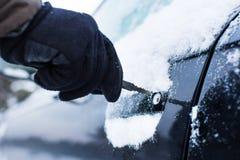 汽车在冬天 库存图片